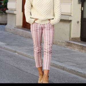 Isabel Marant Étoile Cooper Striped Crop Jeans